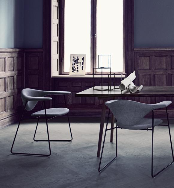Fauteuil Masculo Lounge Gubi Melville Design